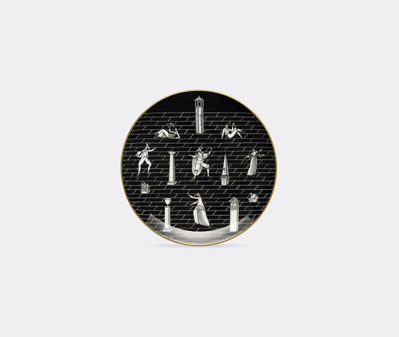 Ginori 1735 'Passeggiata Archeologica' plate, black