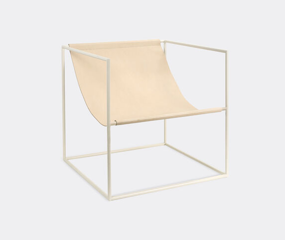 Valerie_objects 'Solo' seat, white and leather