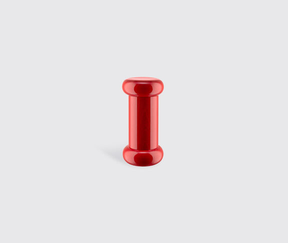 Alessi Salt, Pepper And Spice Grinder In Beech-Wood, Red. Alessi 100 Values Collection. 2
