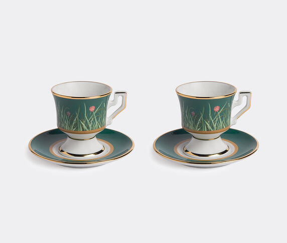 La DoubleJ Espresso cup and saucer, set of two