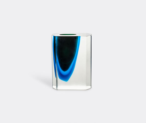 Venini 'Octagono' vase, aquamarine blue