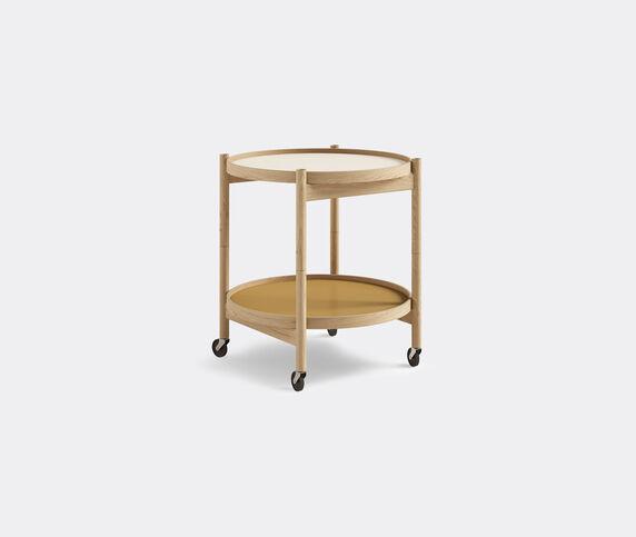 Brdr. Krüger 'Bølling' tray table, 500mm, oak, cream
