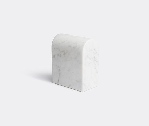 Aparentment Marblelous Triumph Book End - Double - Carrara Marble 2