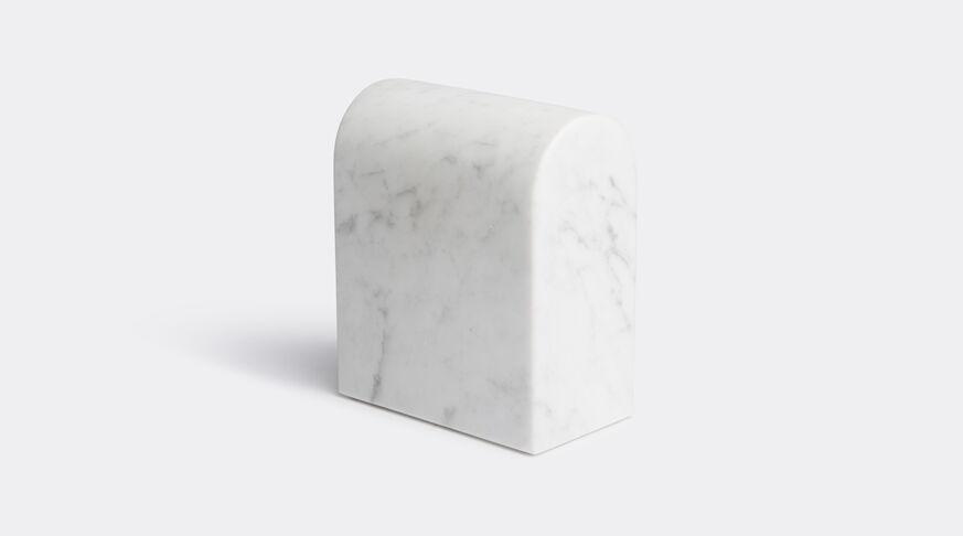 Aparentment Marblelous Triumph Book End - Double - Carrara Marble 1