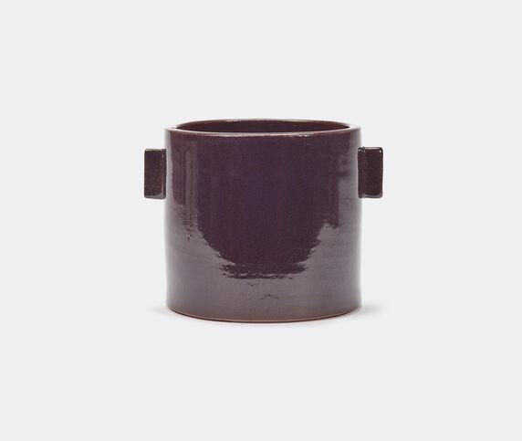Serax 'Glazed Shades' flower pot, aubergine