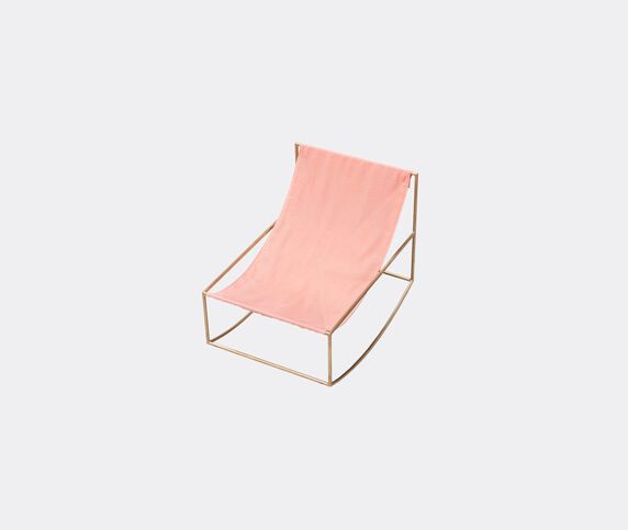 Valerie_objects 'Rocking Chair', brass and pink