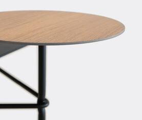 Viccarbe Tiers Low Table A Black Structure, Rectangular Top In Black, Circular Top In Matt Oak 2