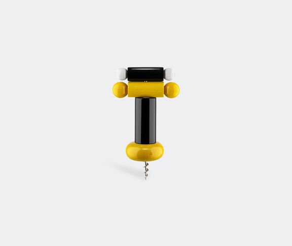 Alessi Corkscrew In Beech-Wood, Black, Yellow And White. Alessi 100 Values Collection. 2