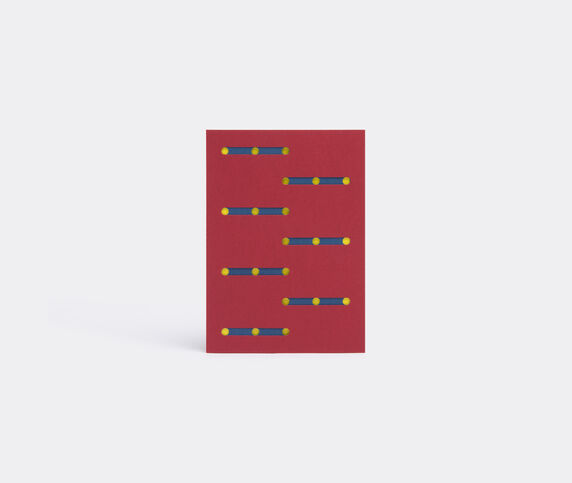 Dotsy Pattern card, red, orange and yellow