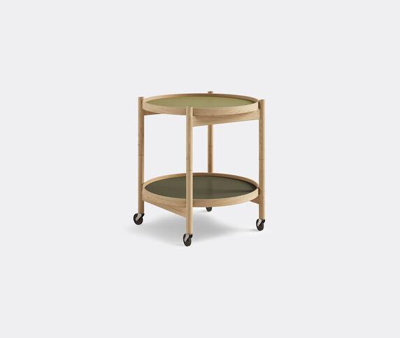 Brdr. Krüger 'Bølling' tray table, 500mm, oak, green