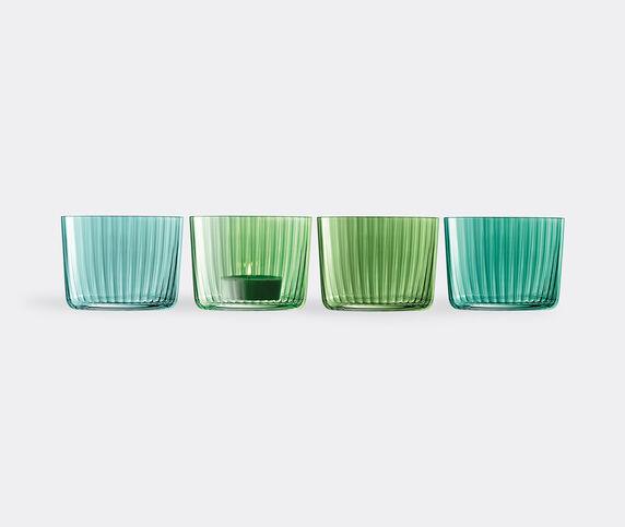 LSA International 'Gems' tealight holder, set of four, jade
