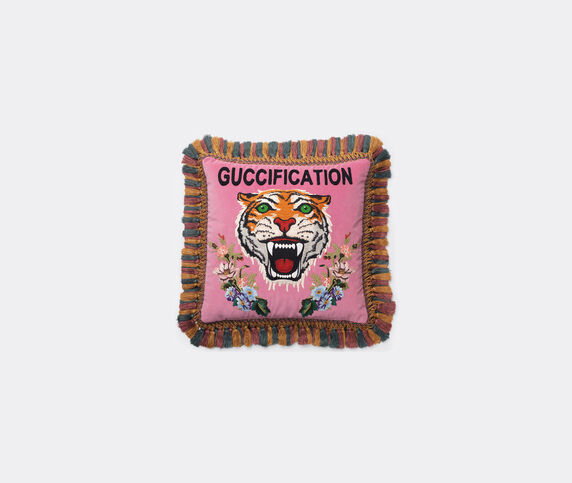 Gucci 'Guccification' velvet cushion