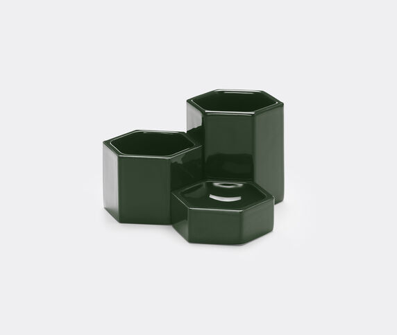 Vitra Hexagonal containers dark green, set of three