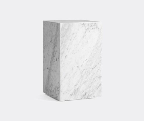 Menu Tall 'Plinth', white marble