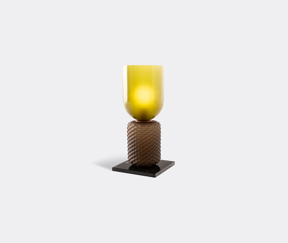 Cassina 'Ficupala' table lamp, black and green, UK plug