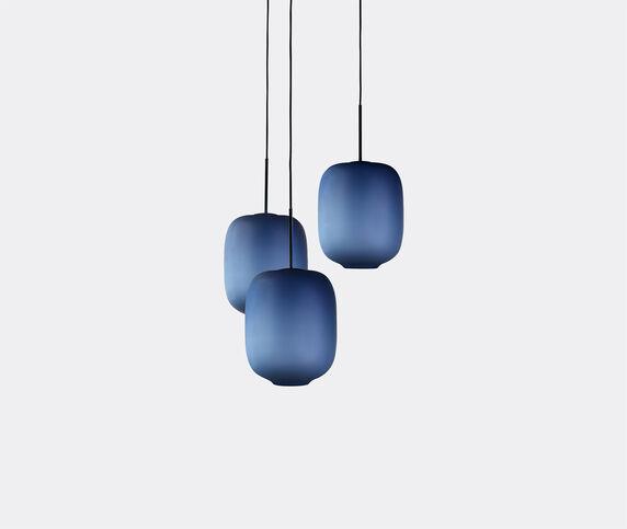 Cappellini 'Arya' three pendant lamp, blue, UK plug