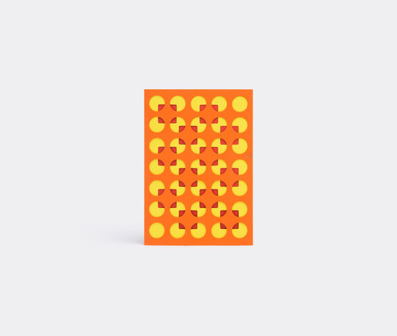 Dotsy Pattern card, yellow, orange and red