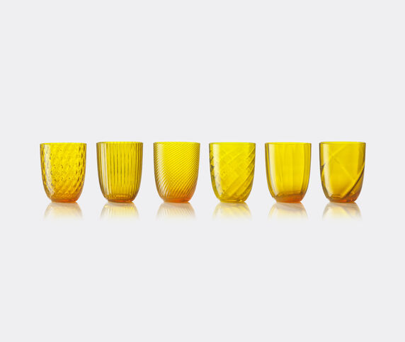 NasonMoretti 'Idra' water glass, set of six, yellow
