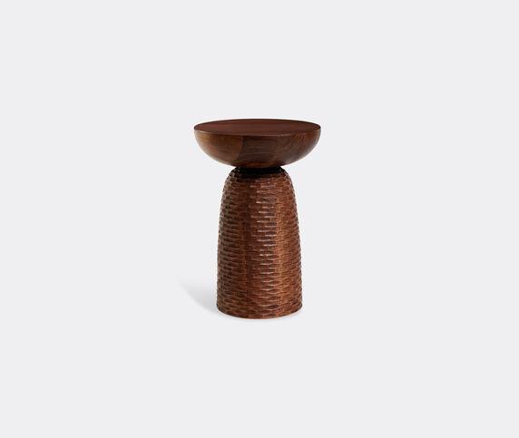 Zanat 'Nera' stool, carved base, walnut