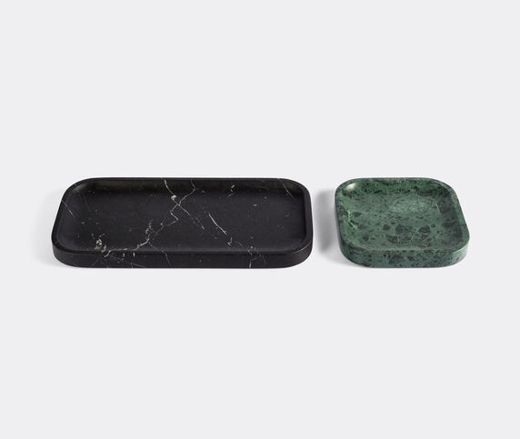 Salvatori 'Pietra L 04' tray duo, black and green