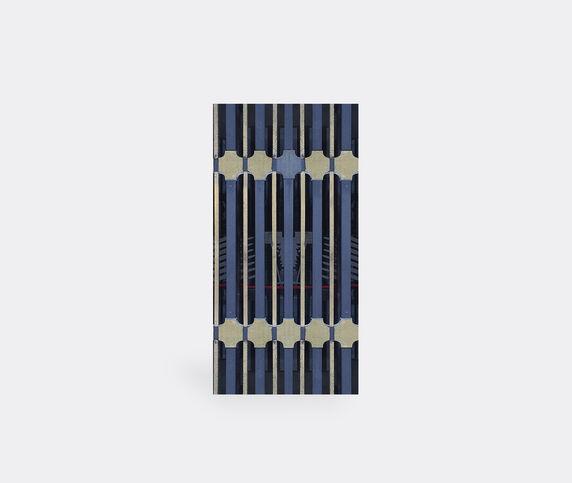 Wall&decò 'Ornate Ts' wallpaper, blue