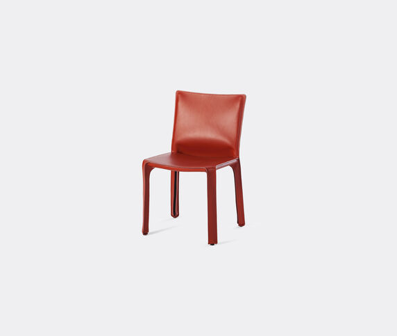 Cassina 'Cab 412' chair, leather, red