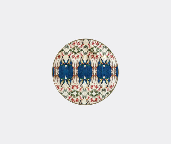 Les-Ottomans Patch NYC tray, blue and white