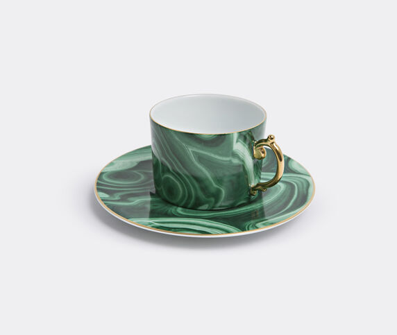 L'Objet 'Malachite' teacup and saucer, set of two