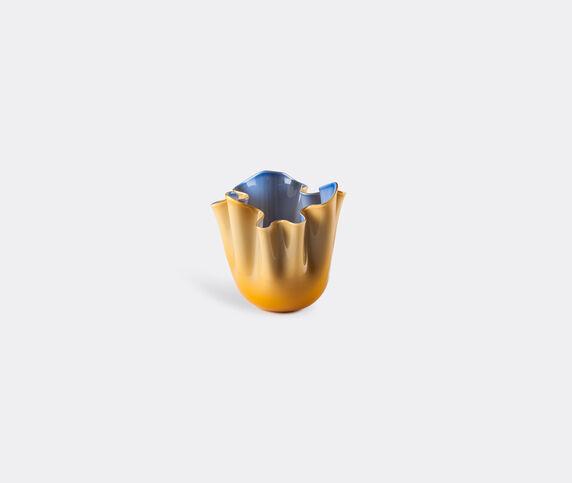Venini 'Fazzoletto Opalino' vase, S, amber and horizon