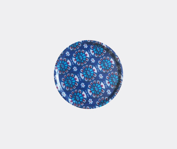 Les-Ottomans 'Ikat' wooden tray, blue