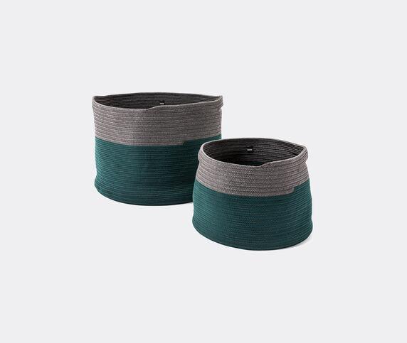 Cassina 'Podor' baskets, set of two, green & grey