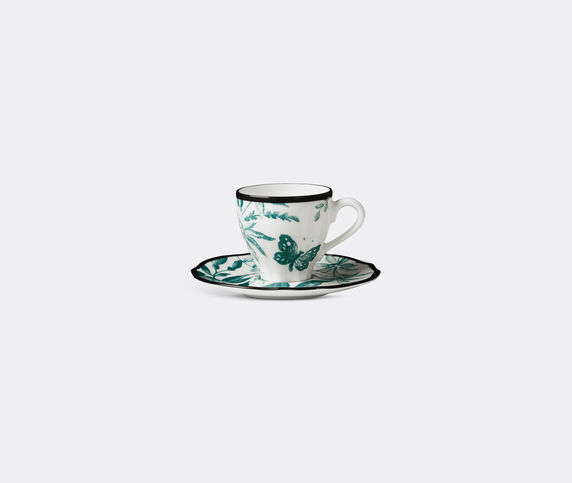 Gucci 'Herbarium' coffee cup with saucer, set of two
