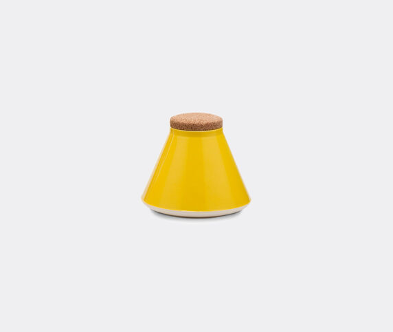 Established & Sons 'Store' jar, wide, gloss yellow