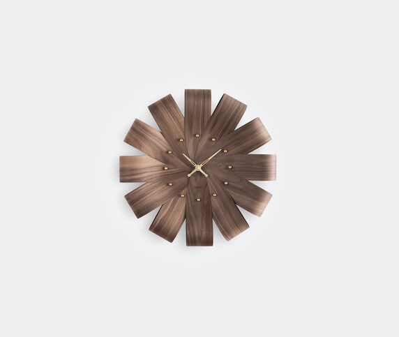 Nomon 'Ciclo' clock, walnut and brass