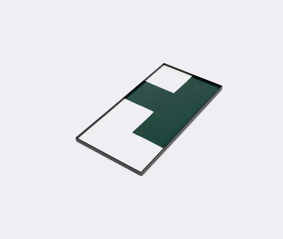 Serax Tray, L, green and white