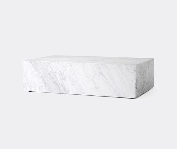 Menu Low 'Plinth', white marble