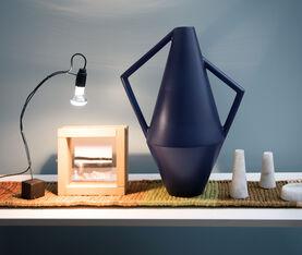 Atipico Koravase Ceramic Vase - Ø Mm 240Xh.525 - Col. Steel Blue 3