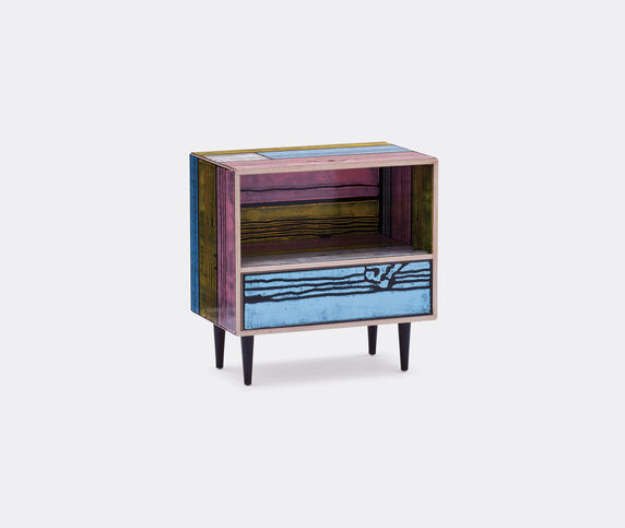 Established & Sons 'Wrongwoods' night table, pink and blue