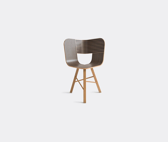 Colé 'Tria' chair, ivory and black
