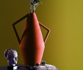 Atipico Koravase Ceramic Vase - Ø Mm 240Xh.525 - Col. Deep Orange 3