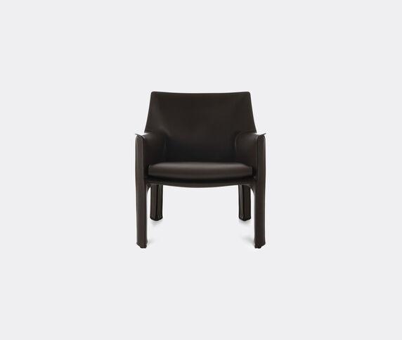 Cassina 'Cab 413' armchair, leather, black