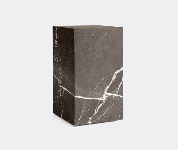 Menu Tall 'Plinth', brown grey marble