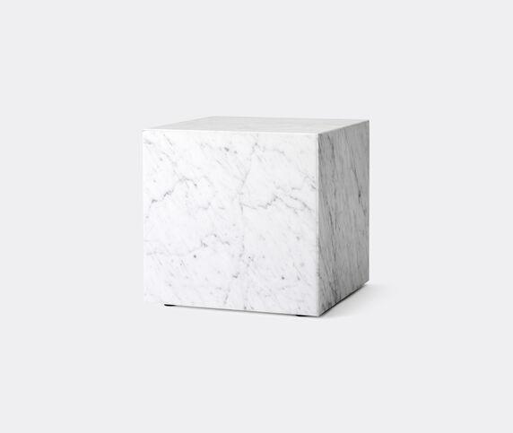 Menu Cubic 'Plinth', white marble