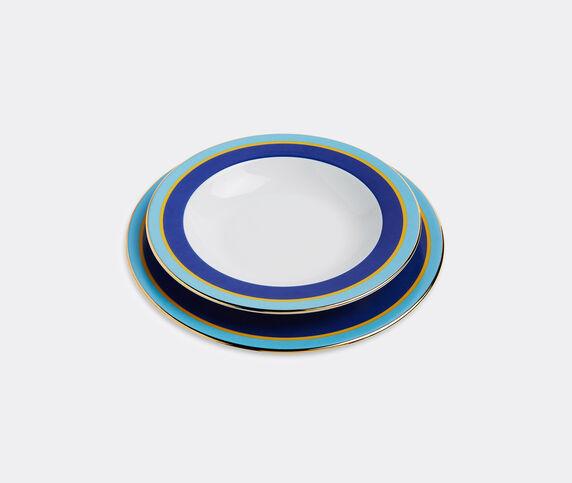 La DoubleJ 'Rainbow Blu' soup and dinner plate set