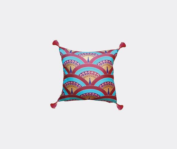 Les-Ottomans Silk cushion, peacock