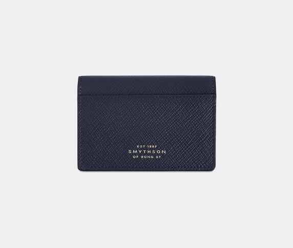 Smythson 'Panama' folding card case, navy