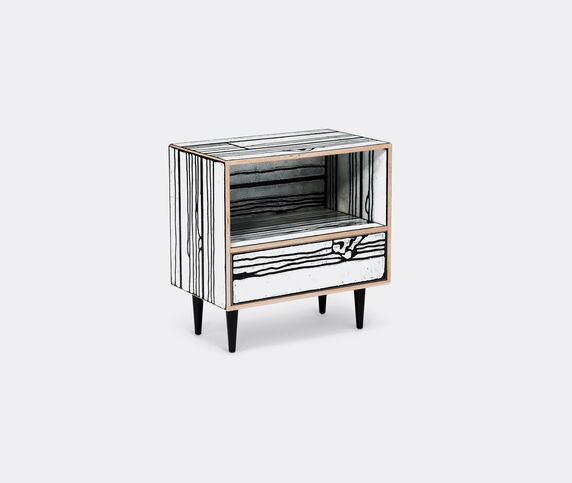 Established & Sons 'Wrongwoods' night table, white and black
