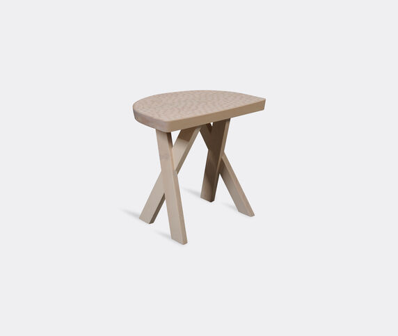 Zanat 'Touch Half Moon' stool, beige