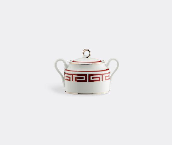 Ginori 1735 'Labirinto' sugar bowl, red