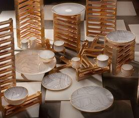 1882 Ltd Lustre Platter - Gold Dhow  3